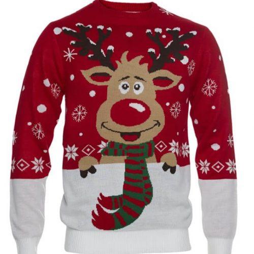 julesweater med rudolf