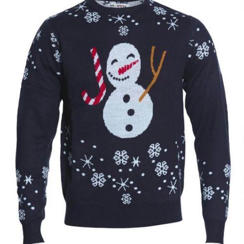 julesweater med snemand
